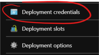 Deployment credentials option